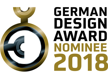 für den German Design Award 2018 Nominiert